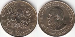 KENYA 5 Cents 1975 KM#10 - Used - Kenia