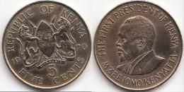 KENYA 5 Cents 1970 KM#10 - Used - Kenia