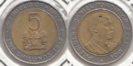 KENYA 5 Shillings 1997 KM#30 - Used - Kenia