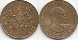 KENYA 10 Cents 1980 KM#18 - Used - Kenia