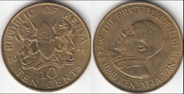 KENYA 10 Cents 1971 KM#11 - Used - Kenia