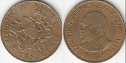 KENYA 10 Cents 1977 KM#11 - Used - Kenia
