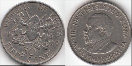 KENYA 50 Cents 1969 KM#13 - Used - Kenya