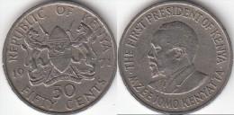 KENYA 50 Cents 1971 KM#13 - Used - Kenia