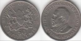KENYA 50 Cents 1973 KM#13 - Used - Kenya