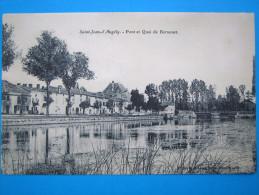 17 : SAINT JEAN D'ANGELY : PONT Et QUAI De BERNOUET  : C.P.A.: Carte En Trés Bon état : Animée - Saint-Jean-d'Angely
