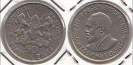 KENYA 50 Cents 1975 KM#13 - Used - Kenya