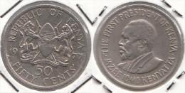 KENYA 50 Cents 1977 KM#13 - Used - Kenia