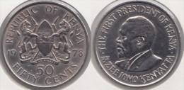 KENYA 50 Cents 1978 KM#13 - Used - Kenya