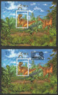 New Zealand  1993 SC 31184a-b MNH Dinosaurs With And Without Bangkok 1993 Ovpt - New Zealand