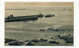 CP , 62 , BOULOGNE-sur-MER , La Plage Et Les Jetées, Vue Prise Du Calvaire Des Marins - Boulogne Sur Mer
