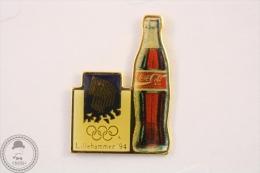Lillehamer ´94 Olympic Winter Games  Coca Cola Bottle Pin Badge #PLS - Coca-Cola
