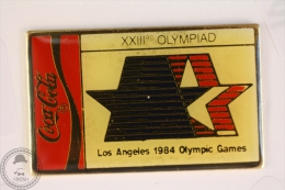 Los Angeles 1984, XXIII Olympiad - Olympic Games - Coca Cola Pin Badge #PLS - Coca-Cola