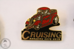 Cruising Magazine Auto Moto - Hot Rod Car - Pin Badge #PLS - Otros