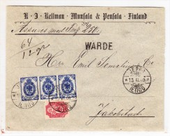 Finland - Wertbrief Ab Jeppo Mit Ankunfts-Stempel Jacobstad 13.03.1909 - - 1856-1917 Administration Russe