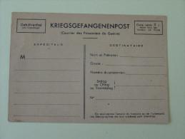 Carte Neuve De Correspondance Prisonnier De Guerre 1940 - Marcophilie (Lettres)