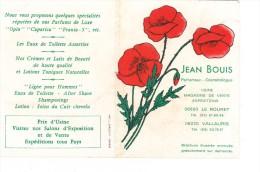 Tres Ancienne Carte Parfumée Parfum Jean Bouis Avec Coquelicot Le Rouret Vallauris Parfumeur Cosmetologue - Anciennes (jusque 1960)