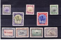 Groenland - 1945 - Mi # 8-16 ** - Non Classés