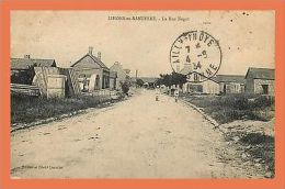 LIHONS EN SANTERRE - La Rue Nagot  // CPA Animée - France