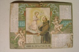 PFW/41 CALENDARIO 1916 - SANT' ANTONIO DA PADOVA Giacomo Arneodo Editori - Calendari
