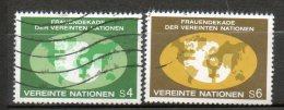 NATIONS UNIES  4s Et 6s Multicolore 1980 N°9-10 - Oblitérés