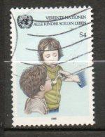 NATIONS UNIES  4s  Multicolore 1985 N°53 - Oblitérés
