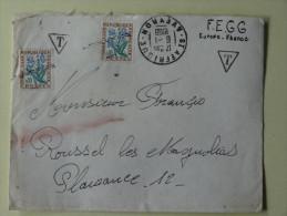 Lettre Taxee  Cachet St Affrique Aveyron 1968 FEGG Europe France - Manual Postmarks