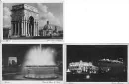 Genova 3 CP Monumento ai Caduti,Vasca di piazza G.Verdi,Stazione Marittimo Tr�s Bon Etat