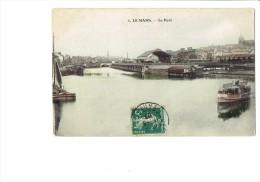 72 - LE MANS - Le Port N°1 - Bateau Publicité RHUM St Yves Toublanc Frères / Volontaire Angers - 1907 - Le Mans