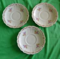 Vintage Scandinavian Pottery Sweden Lidkoping ALP 382 3 Pcs. Of Saucer Dessert Plate 1938 Gold Trim - Ceramics & Pottery