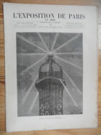 L´exposition De Paris / N° 14  Du  1 Juin 1889  Avec Supplément - Bücher, Zeitschriften, Comics