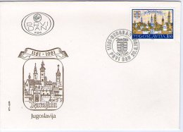 Yugoslavia, 1981, 800th Anniversary Of Varazdin, FDC - FDC