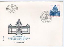 Yugoslavia, 1981, 20th Anniversary Of 1st Non-aligned Countries Conference, FDC - FDC