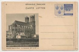 FRANCE - 1938 UNUSED Triptyque CARTE LETTRE - ARMOIRIES DE L´ILE-DE-FRANCE - Postal Stamped Stationery