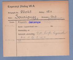Document Ancien - STALAG VII A - Militaire Paul SOURIGUES 9e Chasseurs à Pied , Prisonnier Originaire De Nousse , Landes - 1939-45