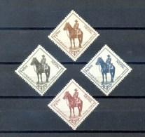 NEPAL * SERIE 4v 1962 * 42nd BIRTHDAY KING MAHENDRA * HORSES * MNH - Nepal