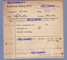 Document Ancien - STALAG VII A - Militaire Polonais , S. Stykalla , Prisonnier Au Camp De Moosburg - WW2 Polska ´s POW - 1939-45