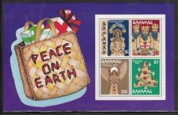 Bahamas MNH Scott #483a Souvenir Sheet Of 4 Straw Figures: Virgin And Child, Three Kings, Angel, Tree - Christmas - Bahamas (1973-...)