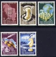Echecs Serie Neuve Yougoslavie 1950 Chess Series MNH Yugoslavia - Echecs