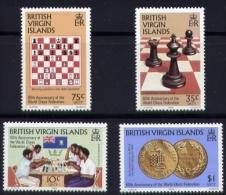 Echecs  Serie Neuve  Ilesvierges 1984  Y:474/77 Cote/value:18€ Chess Series MNH  Virgin Island - Echecs