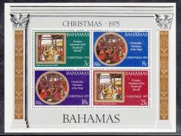 Bahamas MH Scott #383a Souvenir Sheet Of 4 Christmas - Bahamas (1973-...)