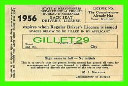 CARTES DE VISITE - LANGLOIS MOTORS LIMITED, MONTREAL - VICTOR A. MAHAITS - 1956 DRIVER'S LICENSE - - Cartes De Visite