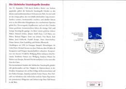 MB 1822) SSt Dresden 1998, 450 Jahre Sächsische Staatskapelle, Dirigent (Folder Mit Knick In Der Ecke) - Musique