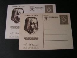 == DR  2 Alte Karten Hutten WHW  Two Colors  * - Allemagne