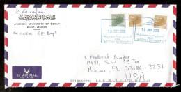 010739 Sc 541 & 543 INTERNATIONAL AIR COVER MAZRAA BEYROUTH, BEIRUT 10 JUNE 2000 TO MIAMI, FLA. USA - Lebanon