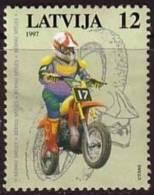 Latvia /Lettonie 1997 Boy Riding Dirt Bike12s  Used - Latvia