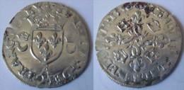 France Ile De France Paris 1550 Douzain Aux Croissants Henri II - 1547-1559 Hendrik II Van Frankrijk