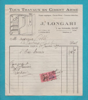 OLIVET 45 ( MACONNERIE J LONGARI ) TIMBRE FISCAL  1939  FACTURE - Autres