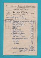 VATAN 36 ( CHARPENTE COUVERTURE GASTON DANETZ )  FACTURE ANCIENNE - Autres
