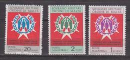 PGL BT015 - SMOM ORDRE DE MALTE SASSONE N°71/73 ** - Sovrano Militare Ordine Di Malta